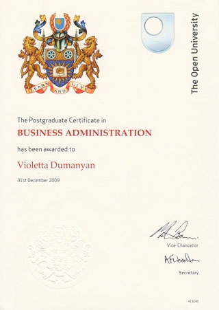 Postgraduate Certificate in Business Administration (OU)